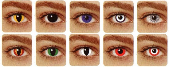 Colored and Crazy Eye Contacts