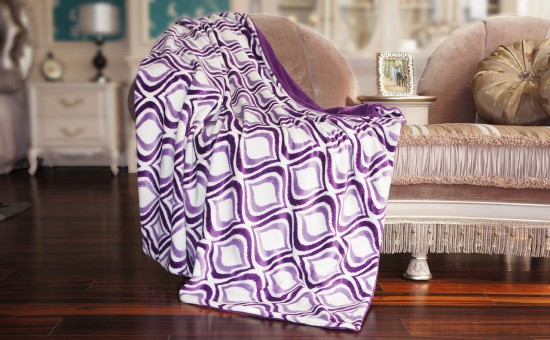 Double Flannel Throw Blanket